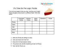 printable logic puzzle easy printable logic puzzles for kids lovetoknow