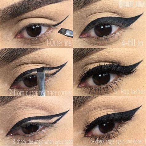 tutorial memakai eyeliner gel wardah best and my favorite eyeliner in black tutorial pictorial