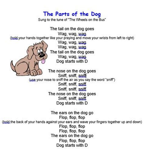 dog house song kids song quot the parts of the dog quot preschool ideas pinterest kids songs songs
