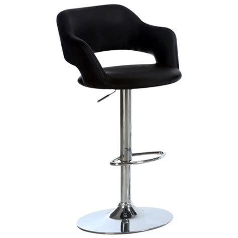 adjustable counter stools with arms euphoria adjustable bar stool with arms chrome black