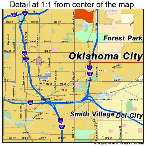 oklahoma city map oklahoma city oklahoma map 4055000