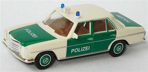 Minichs Mercedes 200 Polizei 1 87 mercedes 200 8 w115 polizei wei 223 gr 252 n brekina