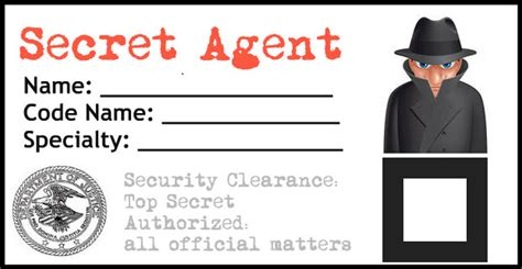 detective identification card template for secret birthday california to korea and