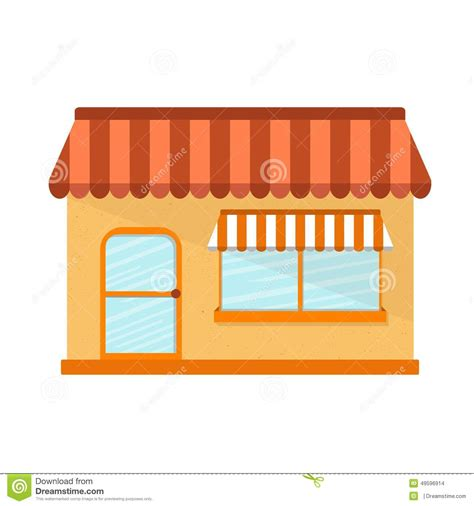 store layout vector vector illustration with flat store building stock vector
