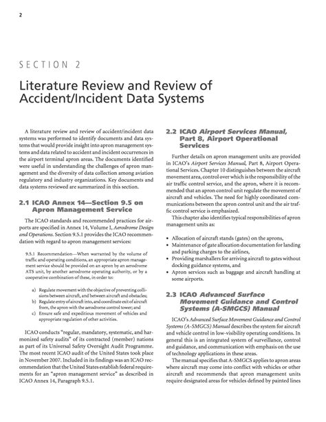 sections of a literature review section 2 literature review and review of accident