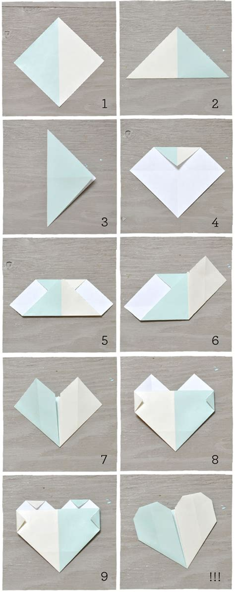 How To Fold Paper Hearts Step By Step - diy origami cards green wedding shoes