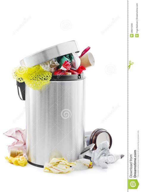 Free Kitchen Floor Plans by Full Trash Can Stock Photo Image Of Disposal Litter