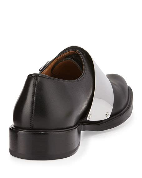 Metal Buckle Loafers givenchy richelieu metal buckle loafer black