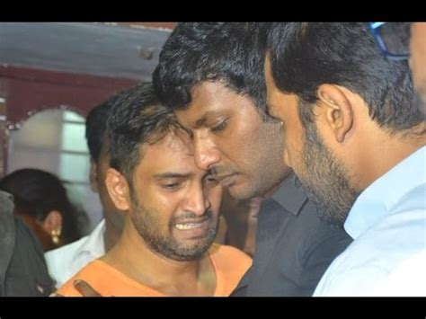 actor last video vishal karthi pays his last respect to santhanam s father