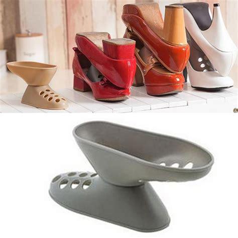 Murah Mainan Anjing Gigit Sepatu Shoes space saving organizer sepatu high heel gray jakartanotebook