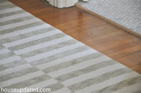 Gray White Striped Rug by Upstairs Hallway Archives House Updated