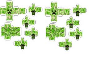 Creeper Template by Papercraft Minecraft Creeper Template By