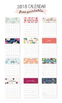 printable calendar 2018 girly free printable 2018 calendar pretty and colorful free