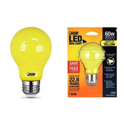 feit led bug light buy the feit electric a19 bug led non dimmable led yellow