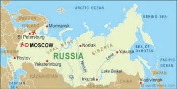 map of and russia only pictures russia map