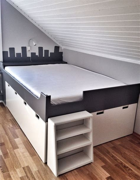 ikea hack platform bed with storage mommo design ikea hacks for kids bed on stuva ikea