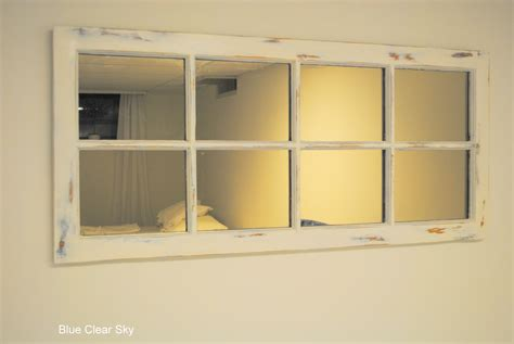 rustic maple pine window frame mirror makeover