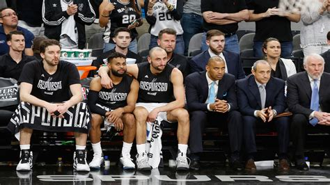 spurs bench golden state ends spurs run for 6th chionship banner