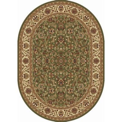 oval rugs 5x8 tayse rugs sensation green 5 ft 3 in x 7 ft 3 in oval transitional area rug 4815 green 5x8