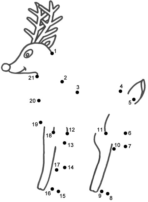 dot to dot christmas pictures rudolph the nosed reindeer connect the dots count by 1 s