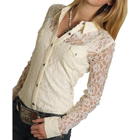 Five Cut Blouse roper five lace blouse sleeve for