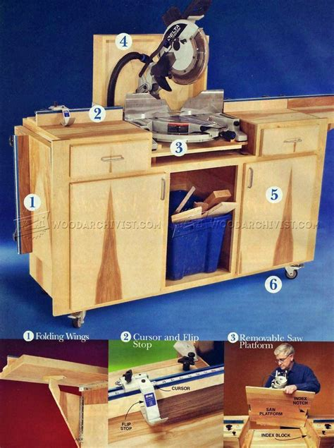 miter saw bench plans woodworking miter saw table plans