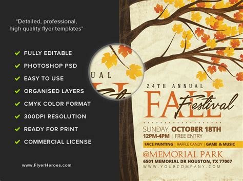 Rustic Fall Flyer Template Flyerheroes Rustic Flyer Template