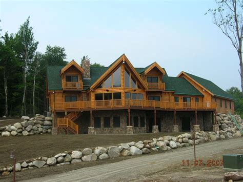 New Hshire Log Cabins by Photo Gallery Client Homes