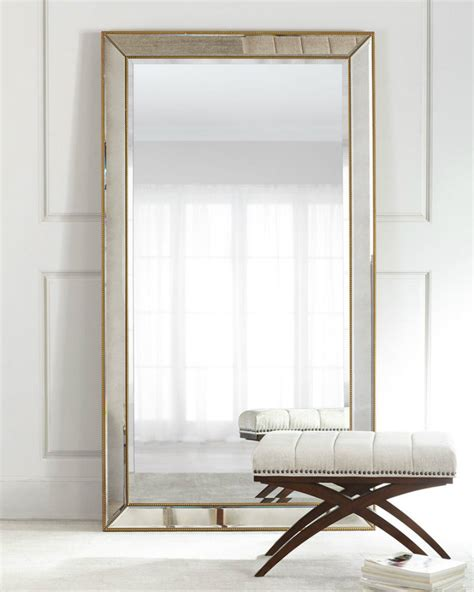 outstanding standing floor mirrors for a sparkling living room set