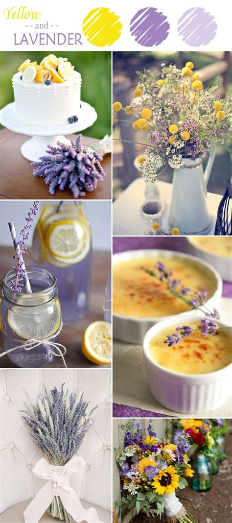 7 yellow wedding color combination ideas to lavender color scheme wedding and