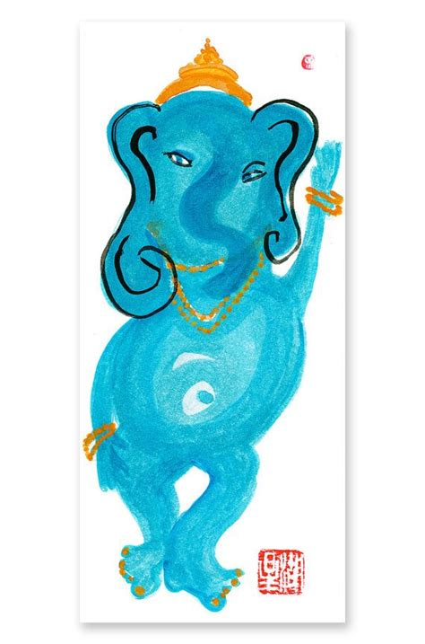 buddha watercolor illustration tutorial adobe ganesh elephant hindu god buddha lord ganesha original