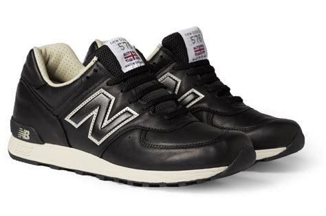 new balance leather sneakers new balance 576 black leather sneakers news