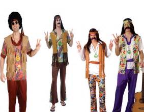 mens hippy hippie fancy dress costume 60s 70s flares