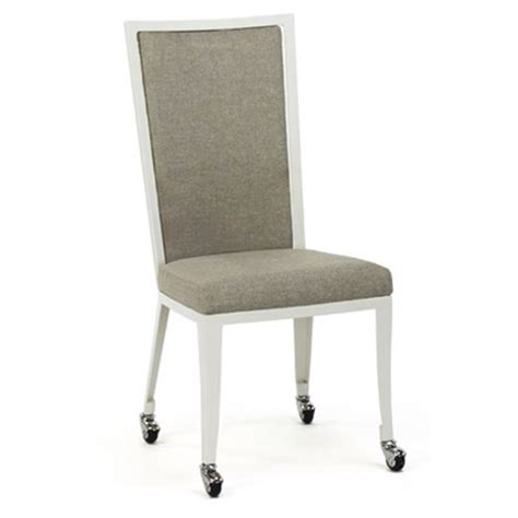 Dining Chairs On Casters Luca Upholstered Dining Chair With Casters