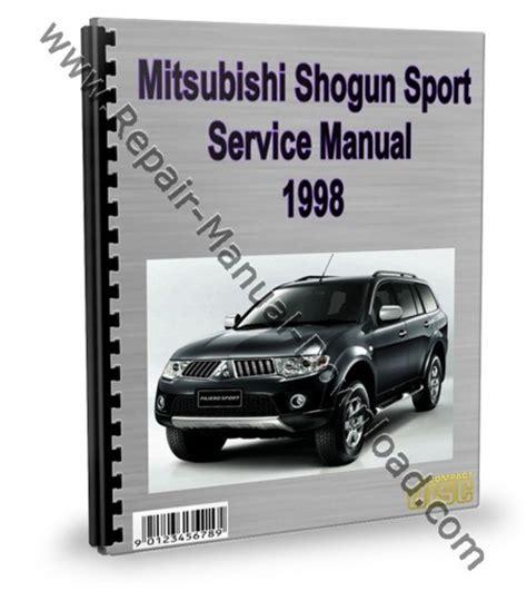 service repair manual free download 1991 mitsubishi pajero seat position control mitsubishi montero pajero sport 1998 service repair manual downlo