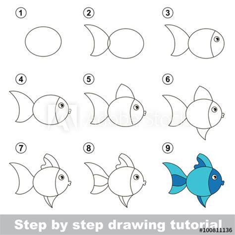 drawing tutorial   draw  cute fish buy  stock