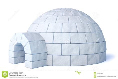 Nice Front View Of A House Plan #10: Igloo-isolated-white-icehouse-background-three-dimensional-illustration-35744545.jpg