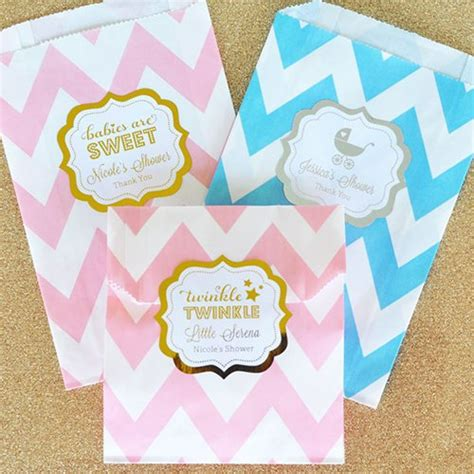 baby shower goody bags personalized pattern goodies bags metallic foil pattern