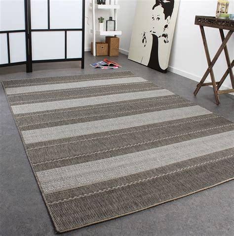teppich modern grau teppich modern flachgewebe gestreift designer teppich