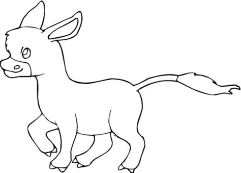donkey ears coloring page dibujos para colorear donkey imagui