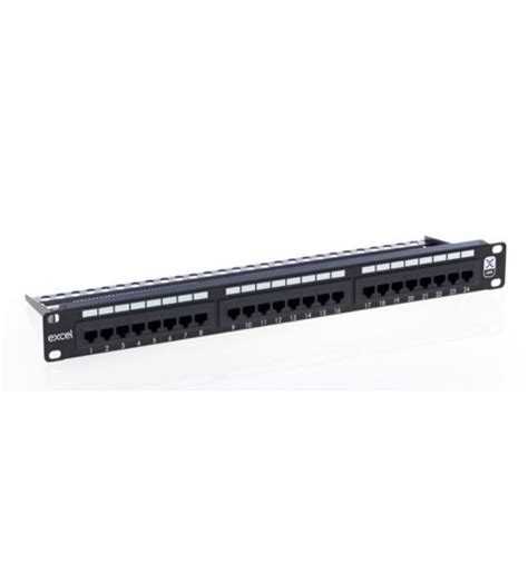 Patch Panel Rj45 24 Port Cat6 Patch Panel Unscreened Rj45 1u