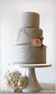 and silver wedding gray silver wedding cake wedding inspiration cake design 2 pi
