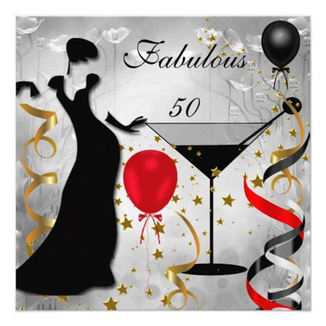 Be Fabulous 50 fabulous 50 50th birthday deco 2 card