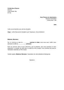 Modèle D Accusé De Réception Administratif