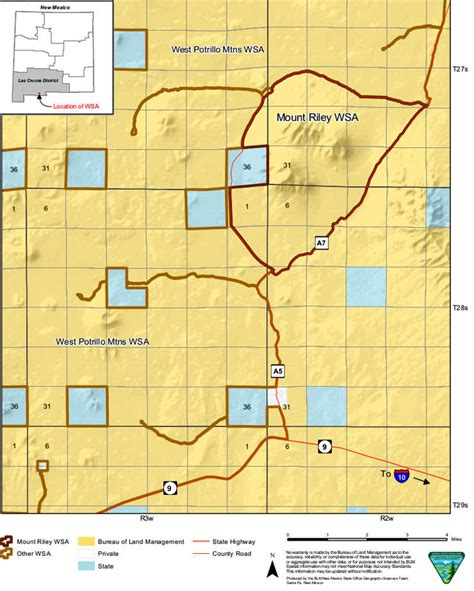 blm land texas map mount wilderness study area new mexico blm