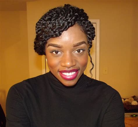 eco gel and teo strand hairstyles winter protective style two strand twists updo curlplease