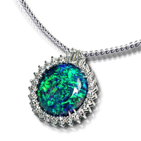 black opal pendant jewelry designs