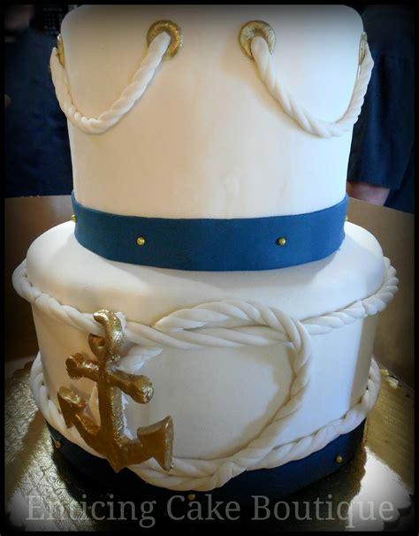 Wedding Cake Navy by Nautical Navy Wedding Cake Cakecentral