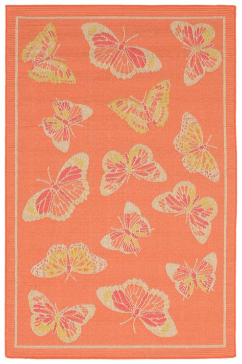 Butterfly Area Rugs Trans Trans Playa Butterfly Orange Area Rug 147080