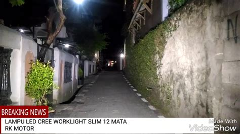 Cwl Lensa Kotak 6 Mata Worklight Led Cree 18w Lu Tembak Sorot Fokus lu led cree work light slim 12 mata